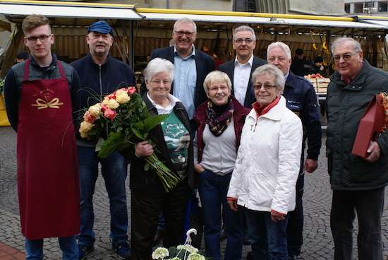 Der Wochenmarkt an der Pauluskirche in Hamm begrüßt neue Händler