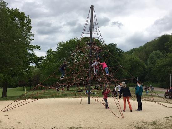 Klettern im Gysenbergpark