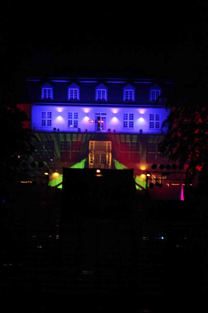 ©Theater an der Ruhr Das beleuchtete Theatergebäude