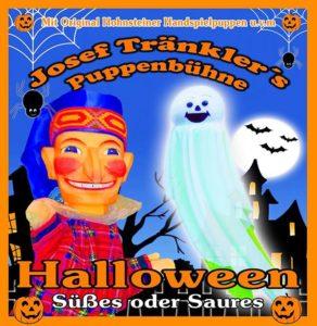 """Halloween - """"Süßes oder Saures"""" heißt die Vorstellung von Josef Tränklers Puppenbühne. Foto: Josef Tränklers Puppenbühne/Halloween"""
