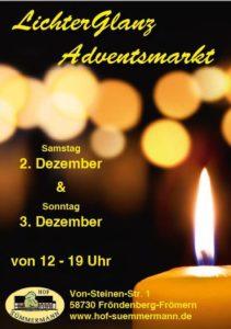 Der Adventsmarkt auf dem Hof Sümmermann findet auch 2017 wieder am ersten Adventswochenende statt