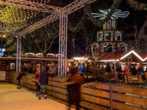 Auch die Eisbahn bietet winterlichen Fahrspaß für Groß und Klein © MoersMarketingGmbH