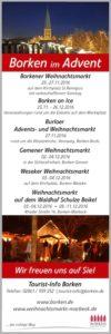 Das Borkener Weihnachtsmarktprogramm © Pressestelle Stadt Borken