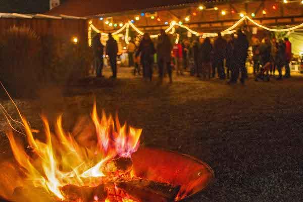 Der Hof Sümmermann verwandelt sich am ersten Adventswochenende in ein zauberhaftes Lichtermeer Foto: Michael Abraham
