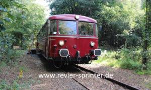 Das Revier-Sprinter Team organisiert auch in dieser Saison wieder tolle Sonderfahrten mit dem Uerdinger Schienenbus Foto: Denis Möller Revier-Sprinter Team