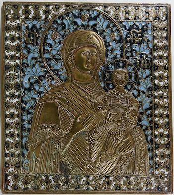Ikone Maria mit Christuskind - Ausstellung im Ikonen-Museum Recklinghausen