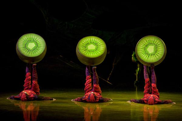 Spannende Akrobatikeinlagen begeistern in der farbenfrohen Show Ovo die Zuschauer Foto © 2009 Cirque du Soleil