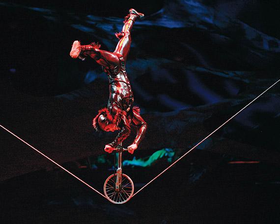 Gewagter Seiltanz im Cirque du Soleil Foto © 2009 Cirque du Soleil