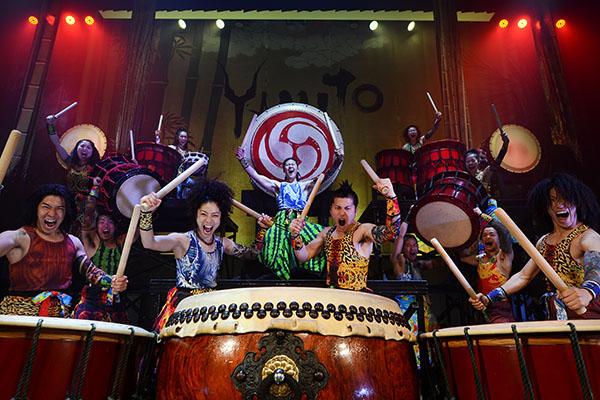 Bei der Show Yamato - The Drummers of Japan in NRW erleben die Besucher eine unglaubliche Trommelshow mit Humor und faszinierenden Klängen Foto © Masa Ogawa