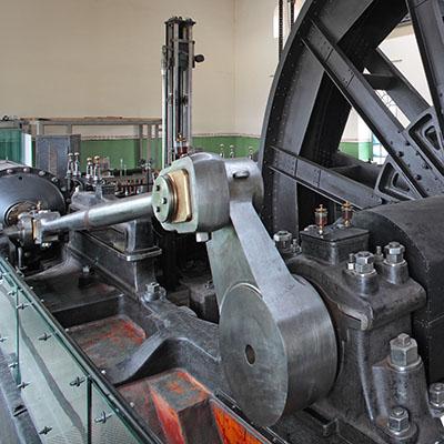 Die Dampffördermaschine der Zeche Hannover in Bochum ist die älteste an ihrem Originalstandort erhaltene Dampffördermaschine im Ruhrgebiet Foto: LWL/Hudemann